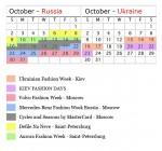 Spring 2012 Fashion Week Calendar – Russia and Ukraine