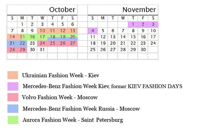 Spring 2013 Fashion Week Calendar   Russia and Ukraine