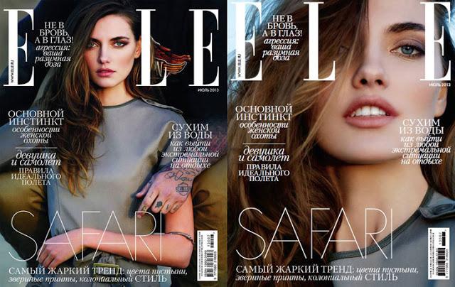 Alina Baikova for Elle Russia July 2013