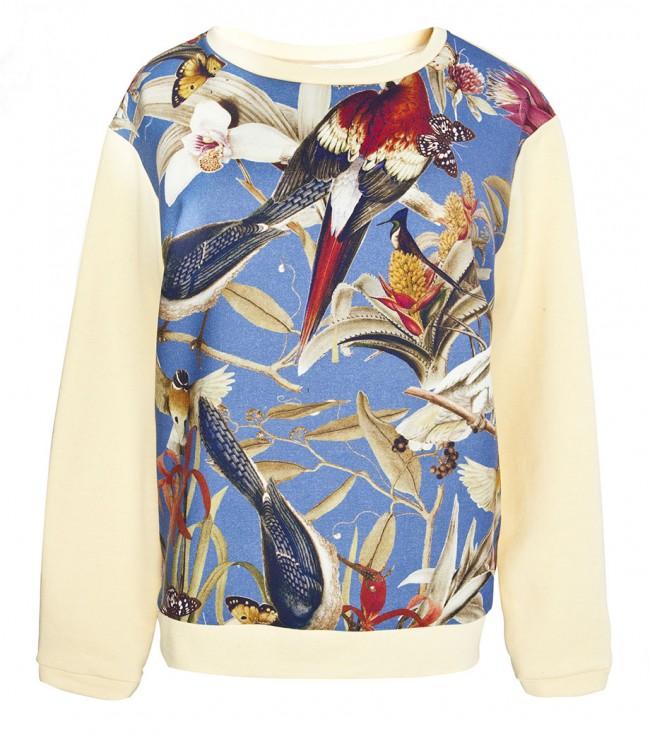 Sport Meets Luxe: Printed Sweatshirts